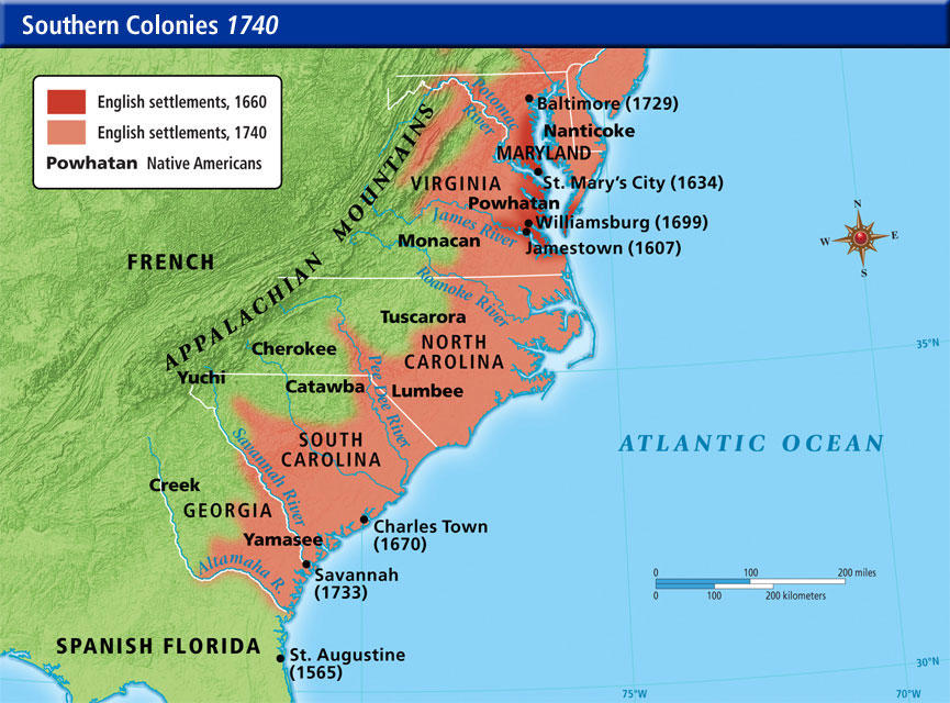 American Chesapeake Bay And The Middle Colonies