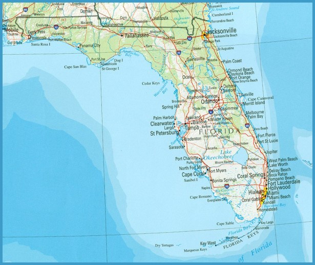 Fort Myers Florida Map.Florida Map Travelsfinders Com