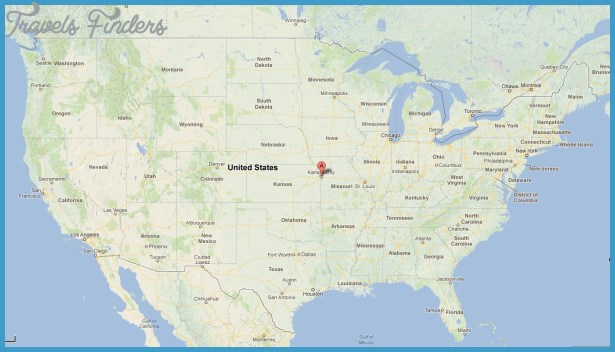 Kansas City Map Travel Map Vacations TravelsFindersCom - United states cities map