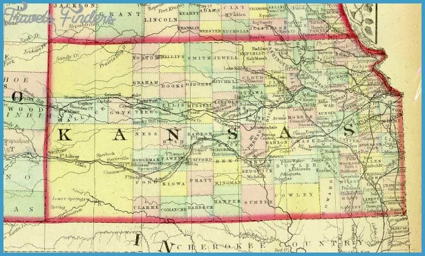 1872 County Map ofKansas