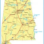 Detailed Alabama State map with Capitals, Major Cities, Interstates