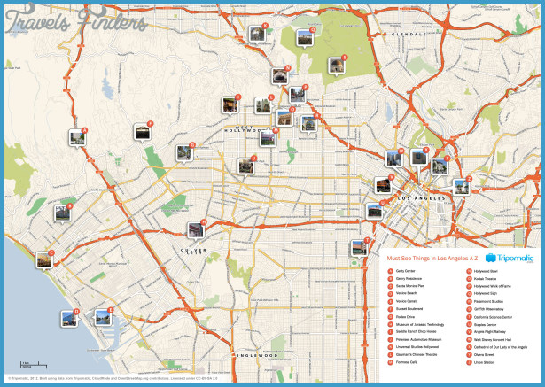 Map of Los Angeles Attractions | Tripomatic
