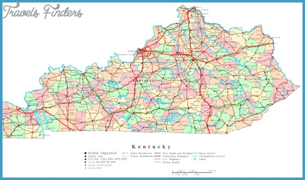 Map Of Kentucky Travel Map Vacations TravelsFindersCom - Map of kentuckey