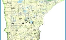 photograph about Printable Map of Minnesota called printable map of minnesota Archives - TravelsFinders.Com ®
