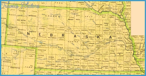 Map Of Nebraska Travel Map Vacations TravelsFindersCom - Nebraska state map