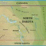 Physical map of North Dakota, equirectangular projection