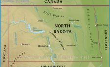 map of north dakota cities and towns Archives ...