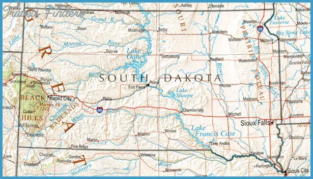 Map of North Dakota TravelsFindersCom