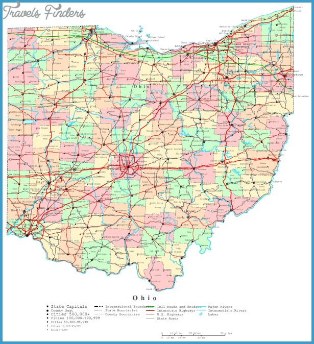 Map Of Ohio Travel Map Vacations TravelsFindersCom - Mapofohio