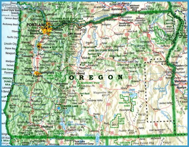 Map Of Oregon Travel Map Vacations TravelsFindersCom - Map of oregon