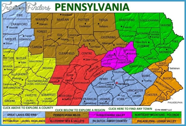 Pennsylvania Visitors Network, Visitors Guide for PA