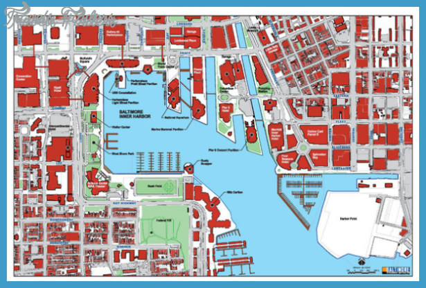Maryland Map Tourist Attractions TravelsFindersCom