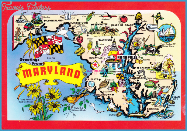Maryland Map Tourist Attractions Travel Map Vacations - Map of us tourist attractions
