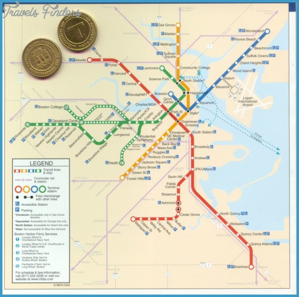 find a MBTA Boston subway map that will help you in your travels