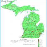 Michigan Contour Map