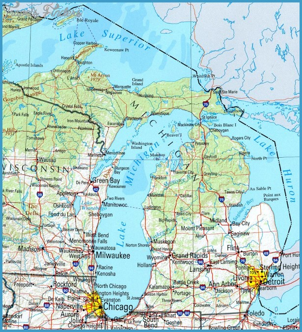 Michigan Map Tourist Attractions – Tourist Attractions Map In Detroit