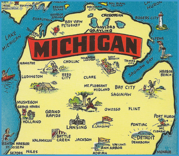 Michigan Map Tourist Attractions – Michigan Tourist Attractions Map