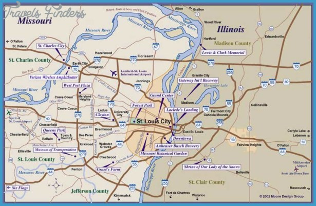If you were able to find a useful map of St Louis, then my job here is ...