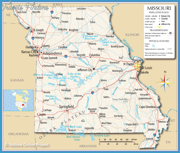 MAP OF MISSOURI – Click now