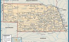 nebraska time zone map Archives - TravelsFinders.Com ®