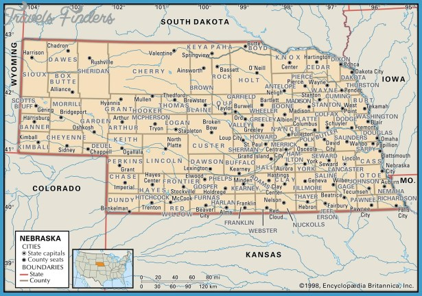 Nebraska Map With Towns Archives Travel Map Vacations - Map of nebraska towns