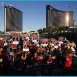 during a rally held by the Culinary Union in front of the Trump Hotel