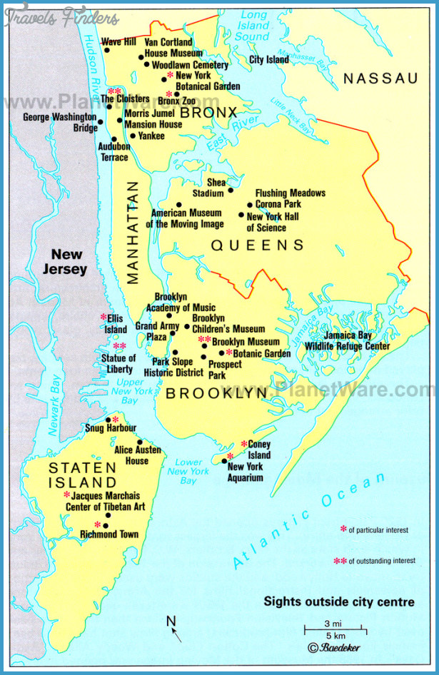 New Jersey Map Tourist Attractions Travelsfinders Com