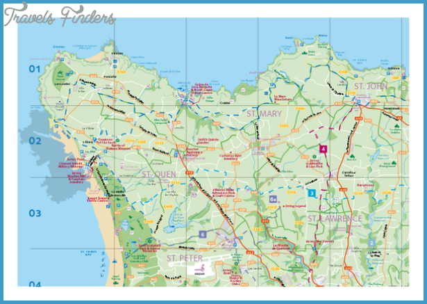 results road map of jersey map of the island of jersey map of jersey