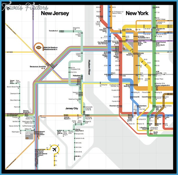 beautiful new public transit map shows how New York and New Jersey