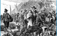 Peter Minuit and others on Manhattan Island. Colony name: Duke of York ...
