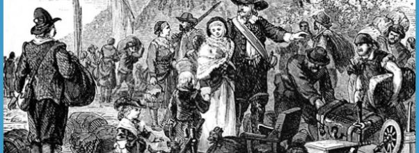 Peter Minuit and others on Manhattan Island. Colony name: Duke of York