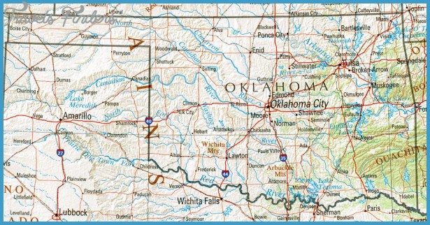 Oklahoma Map Tourist Attractions – Oklahoma City Tourist Attractions Map