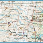 large and detailed reference map of oklahoma from the pcl map library