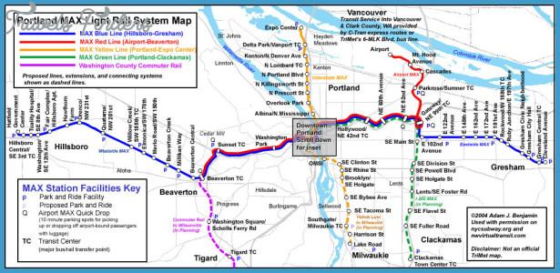 world.nycsubway.org: Portland MAX Route Map