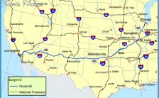 Route 66 Map--Route: A Discover Our Shared Heritage Travel Itinerary