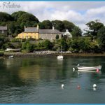 Houses around the shoreline of Strangford Lough at Strangford, Co Down