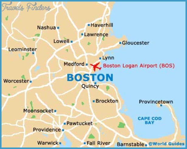 Boston Map Travel Map Vacations TravelsFindersCom - Boston in usa map