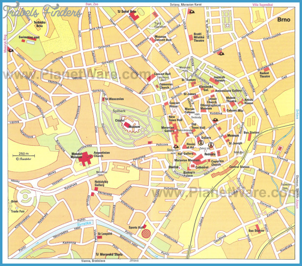 Brno Map - Tourist Attractions