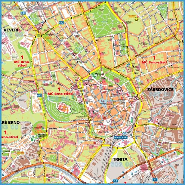 BRNO MAP TravelsFindersCom