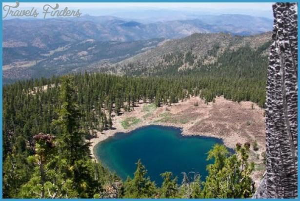 High above China Crater lake,ca