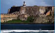of San Felipe del Morro Fort - view from Isla de Cabras in Toa Baja
