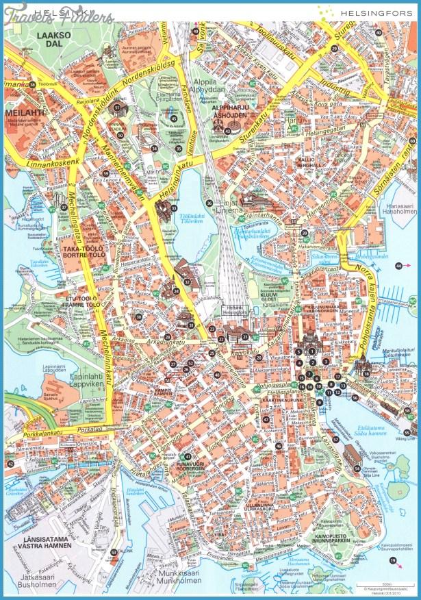 Helsinki center 1 Map - Helsinki  mappery
