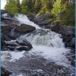 Waterfall On Holeb Pond Road Print by Allen Foley