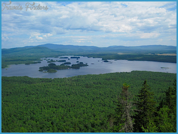 Attean Pond, as seen from Sally Mountain. Paradise on Earth, I say.