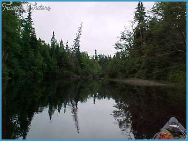 shot of Holeb Stream. The water is actually flowing into Holeb Pond ...