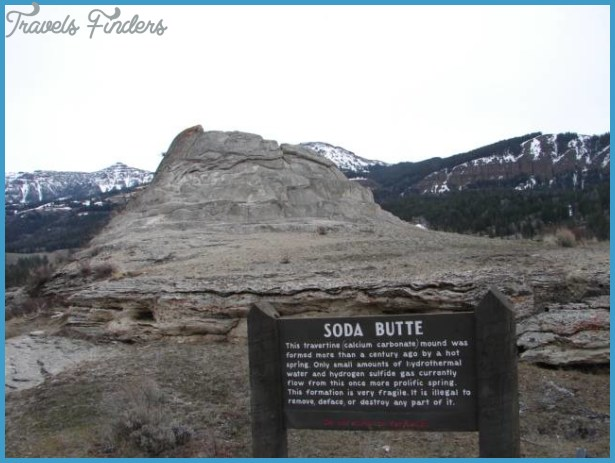 Soda Butte: An extinct geyser.