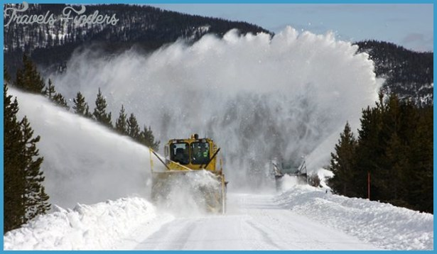 Snowplowing Madison to Old Faithful in Yellowstone. Photo by NPS David