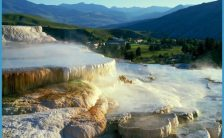 This hotel is famous because of the Mammoth Hot Spring Terraces-