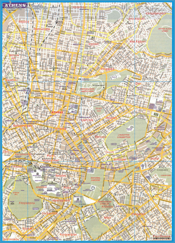 Gallery of Athens Tourist Map