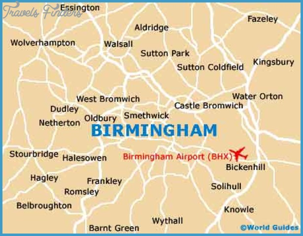 Map of Birmingham Travel Map Vacations TravelsFinders